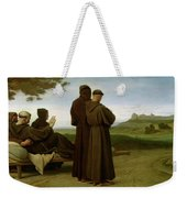 Saint Francis Of Assisi, While Being Carried To His Final Resting Place At Saint-marie-des-anges Weekender Tote Bag