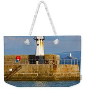 St Ives And Godrevy Lighthouses Cornwall Weekender Tote Bag