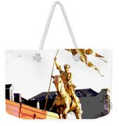 St Joan Of Arc Statue At Dawn Weekender Tote Bag