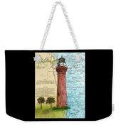 St Johns River Lighthouse Fl Nautical Chart Map Art Cathy Peek Weekender Tote Bag