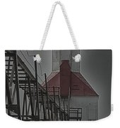 St. Joseph North Pier Lighthouse Lake Michigan Weekender Tote Bag