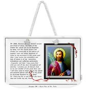 St. Jude Patron Of Hopeless Cases - Prayer - Petition Weekender Tote Bag by Barbara Griffin