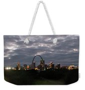 St. Louis Arch At Dusk From The Train Weekender Tote Bag