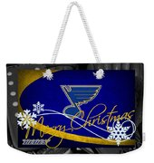 St Louis Blues Christmas Weekender Tote Bag