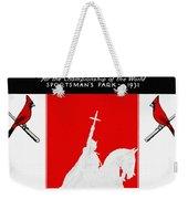 St. Louis Cardinals 1931 World Series Program Weekender Tote Bag