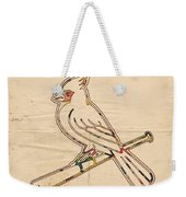 St Louis Cardinals Logo Art Weekender Tote Bag