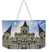 St Louis Cathedral Twilight Weekender Tote Bag