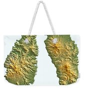 St Lucia And Dominica Map Weekender Tote Bag