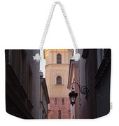 St. Martin's Church Bell Tower In Warsaw Weekender Tote Bag