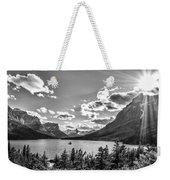 St. Mary Lake Bw Weekender Tote Bag