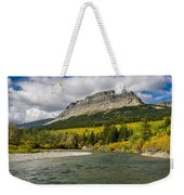 St. Mary River And East Flattop Mountain Weekender Tote Bag