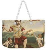St. Michael The Archangel Weekender Tote Bag by Shelley Irish