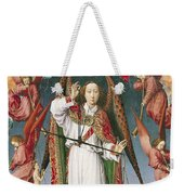 St. Michael Weighing The Souls, From The Last Judgement, C.1445-50 Oil On Panel Detail Of 170072 Weekender Tote Bag