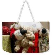 St Nick Teddy Bear Weekender Tote Bag by Jon Berghoff