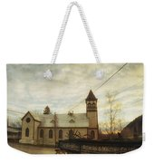 St. Pauls Anglican Church With Wagon  Weekender Tote Bag
