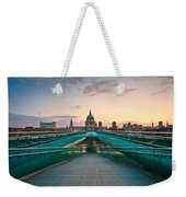 St. Paul's Cathedral And Millennium Bridge In London Weekender Tote Bag