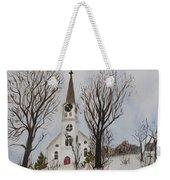 St. Pauls Church In Barton Vt In Winter Weekender Tote Bag