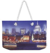 St Paul's Landscape River Weekender Tote Bag by MGL Meiklejohn Graphics Licensing