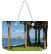 St Pete Pier Through Palm Trees Weekender Tote Bag