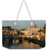 St Peter Morning Glow - Impressions Of Rome Weekender Tote Bag