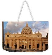 St. Peters Basilica Weekender Tote Bag by Adam Romanowicz