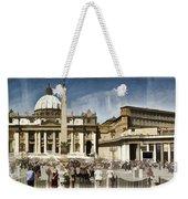 St Peters Square - Vatican Weekender Tote Bag by Jon Berghoff