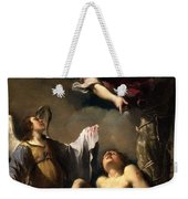St. Sebastian Succoured By Two Angels Weekender Tote Bag