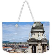 St Stephen's Basilica Bell Tower In Budapest Weekender Tote Bag