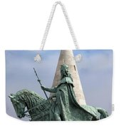 St Stephen's Statue In Budapest Weekender Tote Bag