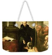 St. Thomas Of Villanueva Distributing Alms, 1678 Oil On Canvas Weekender Tote Bag