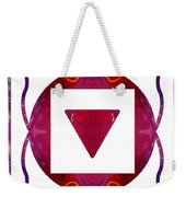 Stabilized Emotions And Thoughtful Feelings Abstract Chakra Art  Weekender Tote Bag