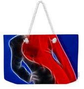 Stacey Red And Black Fractal Weekender Tote Bag