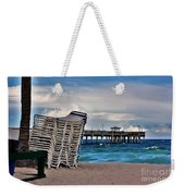 Stacked Beach Chairs Weekender Tote Bag