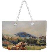 Stacked Hay Bales Weekender Tote Bag