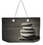 Stacked Pebbles On Beach Weekender Tote Bag by Elena Elisseeva