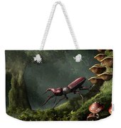 Stag Beetle Weekender Tote Bag by Daniel Eskridge