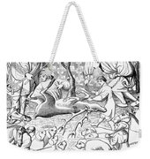 Stag Hunters, 15th Century Weekender Tote Bag