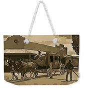 Stagecoach In Old West Arizona Weekender Tote Bag