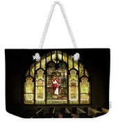 Stain Glass Behold I Stand At The Door And Knock Weekender Tote Bag