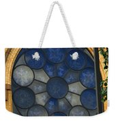 Stain Glass Church Window Weekender Tote Bag