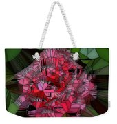 Stain Glass Rose Weekender Tote Bag