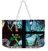 Stained Galss Window In St Vitus Weekender Tote Bag