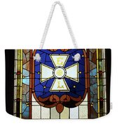 Stained Glass 3 Panel Vertical Composite 01 Weekender Tote Bag by Thomas Woolworth