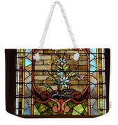 Stained Glass 3 Panel Vertical Composite 02 Weekender Tote Bag by Thomas Woolworth