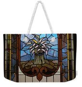 Stained Glass 3 Panel Vertical Composite 04 Weekender Tote Bag