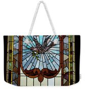 Stained Glass 3 Panel Vertical Composite 05 Weekender Tote Bag by Thomas Woolworth