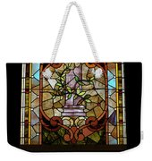 Stained Glass 3 Panel Vertical Composite 06 Weekender Tote Bag