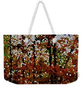 Stained Glass Autumn Colors In The Forest  Weekender Tote Bag
