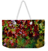 Stained Glass Autumn Leaves Reflecting In Water Weekender Tote Bag