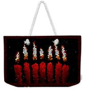 Stained Glass Candle Weekender Tote Bag